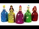 Куклы Принцессы Диснея Яркие Наряды из пластилина Плей До Поделки из Play Doh свои...