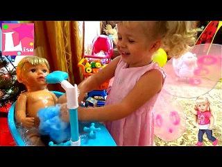 ИГРАЕМ В ДОЧКИ МАТЕРИ как мама, Маленькая Катя превратилась в Фею, моем куклу Беб...