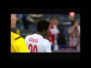 Сейвы Гутора в серии пенальти|Dinamo Minsk - Red Bull Salzburg