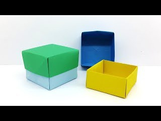 Origami Box with Cover - How to make a Paper Box that opens and closes