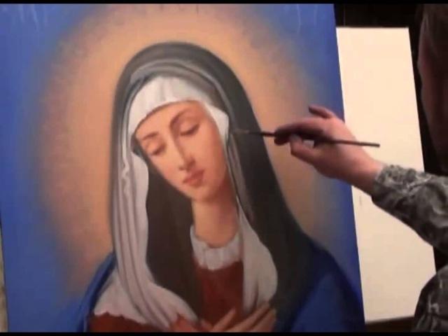 Учимся писать икону Богородицы Умиление