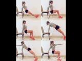 Тренировка для всего тела со стулом