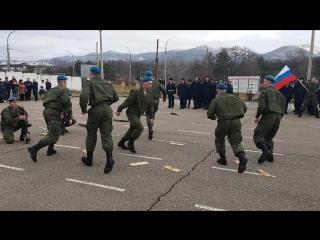 Показательное выступление лучших рядовых ВДВ 3-й зенитно-ракетный полк в/ч 94021