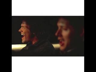 Dean (Jensen) & Sam (Jared) singing supernatural vine