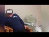 glasses VR  Бабушка испытала очки виртуальной реальности  rollercoaster ride