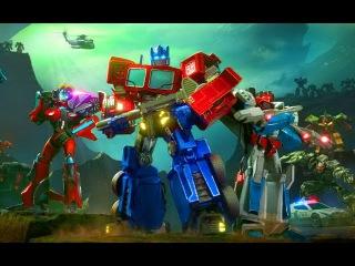Трансформеры Оптимус Прайм Битва Роботов Игра Мультик для Детей Transformers Forged to Fight 3