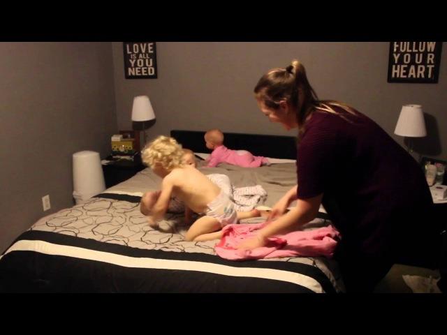Mom vs Triplets Toddler