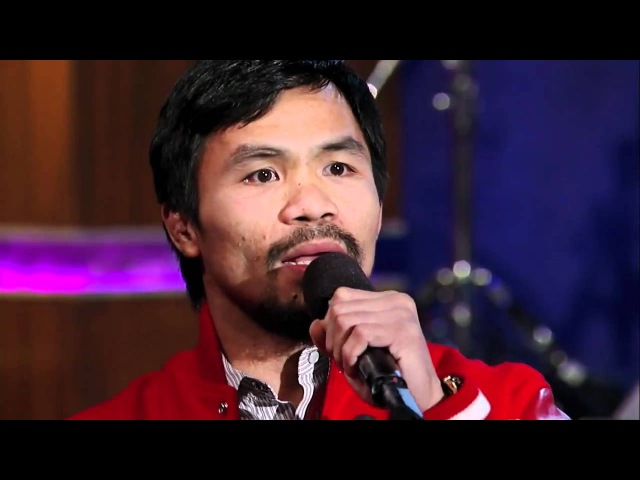Manny Pacquiao Sings Nothing's Gonna Change My Love For You