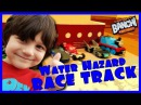 Water Hazard Hot Wheels Race Track with Thomas the Train - Banchi Brothers | not hobbykids