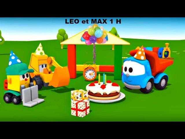 COMPILATION 1 HEURE: dessins animés éducatifs en français: Max, Léo et véhicules d'assistances.