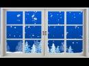❄Снег за окном❄Футаж❄Красивый Новогодний фон❄Snowfall behind the window video background❄HD