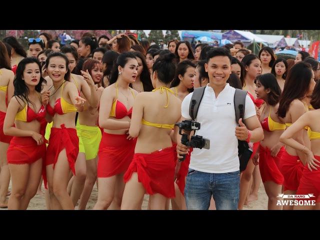 Choáng ngợp với 150 hot girl Vietjet Bikini nhảy flashmob tại bãi biển Đà Nẵng |Danang Awesome