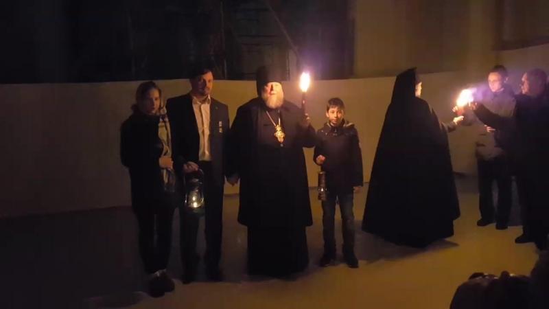 Прибытие Благодатного Огня в Нилову Пустынь 17.04.2017 г.