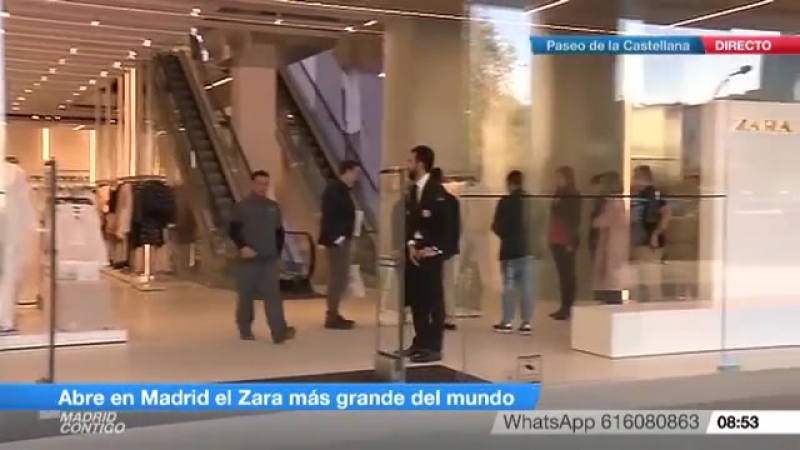 Abren en Madrid la tienda de Zara más grande del mundo (abril 2017)