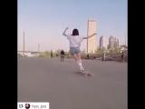 Девушка танцует на скейте! A beautiful Korean girl dancing on a bastl board!!! 韓國美女在滑板上跳舞!