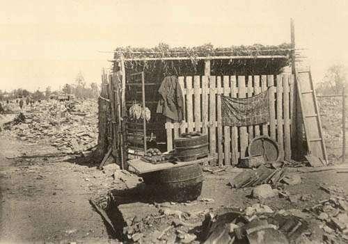 XVІ. Тимчасовий магазин після землетрусу