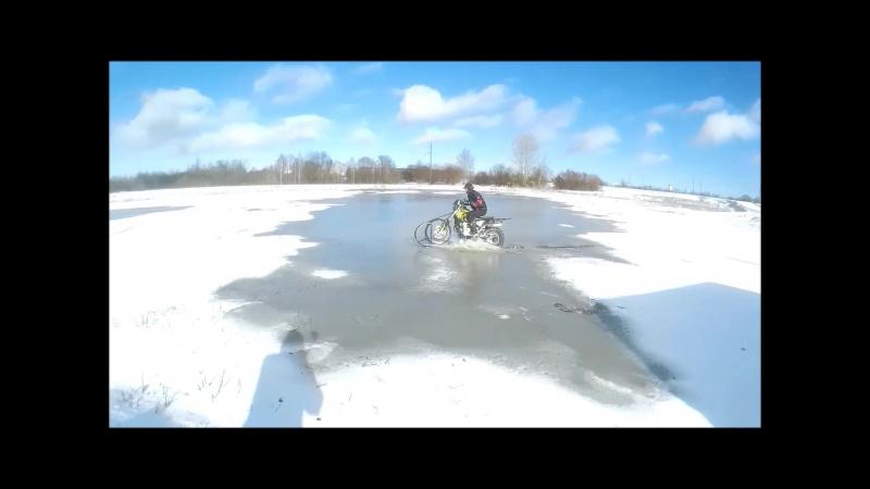 Фильм VOVANA EKSTREMALA Эндуро зимой на лыже по луже 2017 г февраль