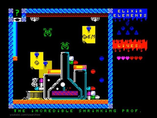 The Incredible Shrinking Professor Walkthrough, ZX Spectrum