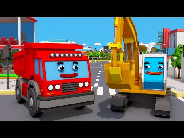 Der Bau Trupp: Der Bagger und der Lastwagen Die Adventures in Stadt