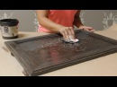 Имитация резьбы по дереву How to Stencil on Wood Tutorial: Create a Carved Wood Effect with Furniture Stencils and Wood Icing