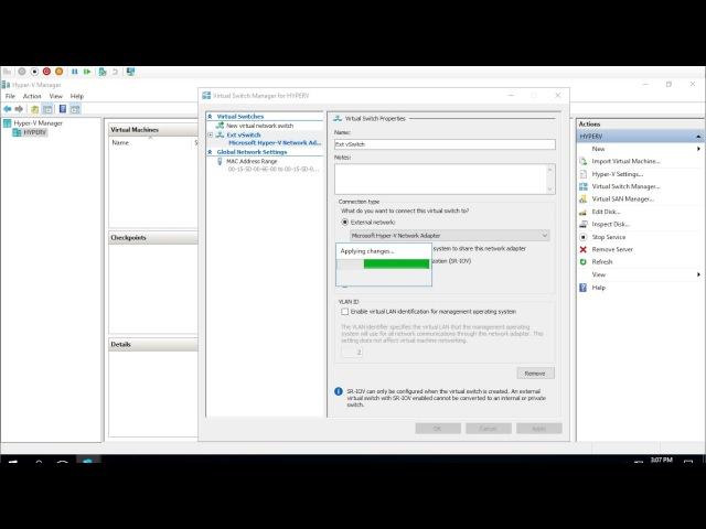 Создание виртуальных коммутаторов [ Windows Server 2016 ]