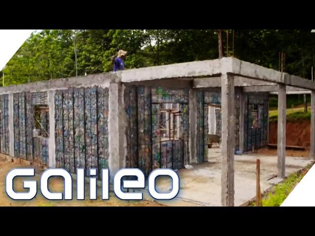 Ein Dorf gebaut aus Plastikflaschen   Galileo Lunch Break