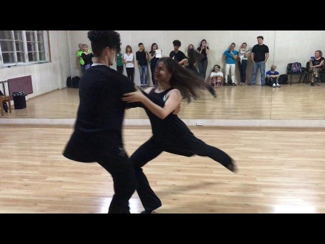 Final Zouk Demo - Felipe Garcia Anastasia Chernova (Music: Shakira feat. Maluma - Chantaje)
