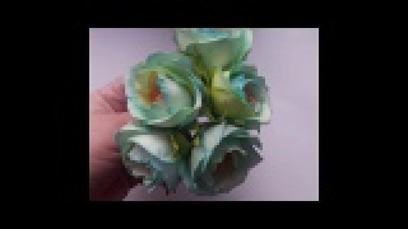 МК Розы и мелкие цветы для ободка! An easy way!