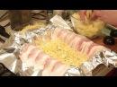 Картофель с сыром запеченный в беконе - картофельный мильфей.