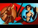 ШАДОУ ФАЙТ 2 Бой с тенью 14 Кнут Счастливчик Чертовка Обезьяна Гадалка Змей мультяшная игра KID