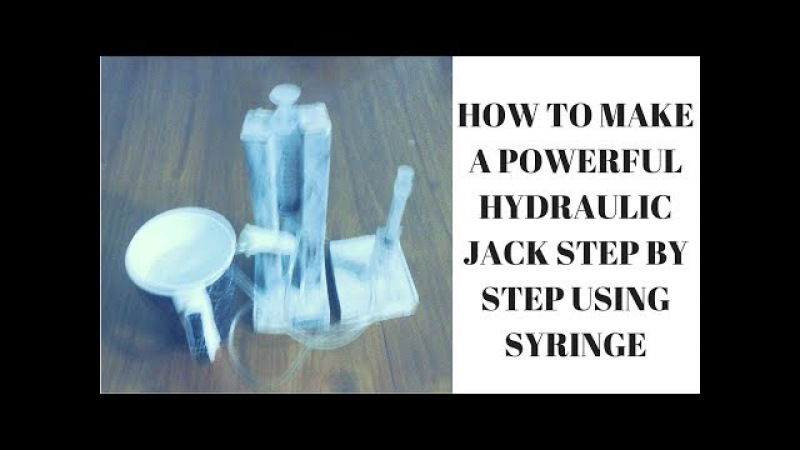 How to Make a Powerful Hydraulic Jack Step by Step using Syringe