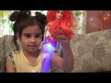 Vlog Распаковка Русалка со светящимся хвостом (Ariel mermaid with a shining tail)