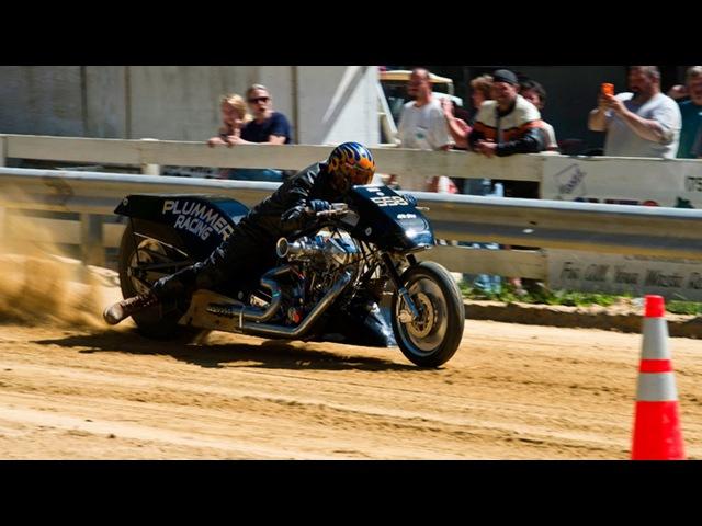 100 км/ч за 0,7 секунды -Top Fuel Motorcycle Dirt Drag Racing