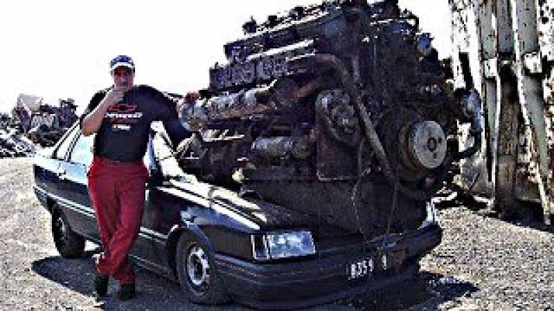Моторы от которых сносит крышу! ДВС и реактивный двигатель на Камазе, разгон до 100