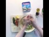 Салат с кальмарами, цукини и