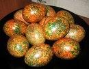 Красим яйца оригинальным способом. Мраморные.