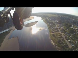 Полет над Мезенью на паралете. Август 2016г.