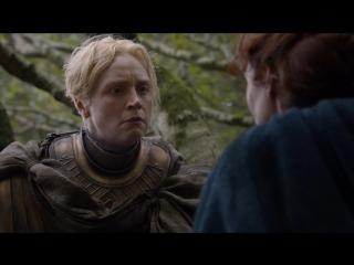 Игра Престолов - Бриенна Тарт дает присягу Кейтилин Старк в лесу, направляясь в лагерь Короля Севера, Робба Старка(*).