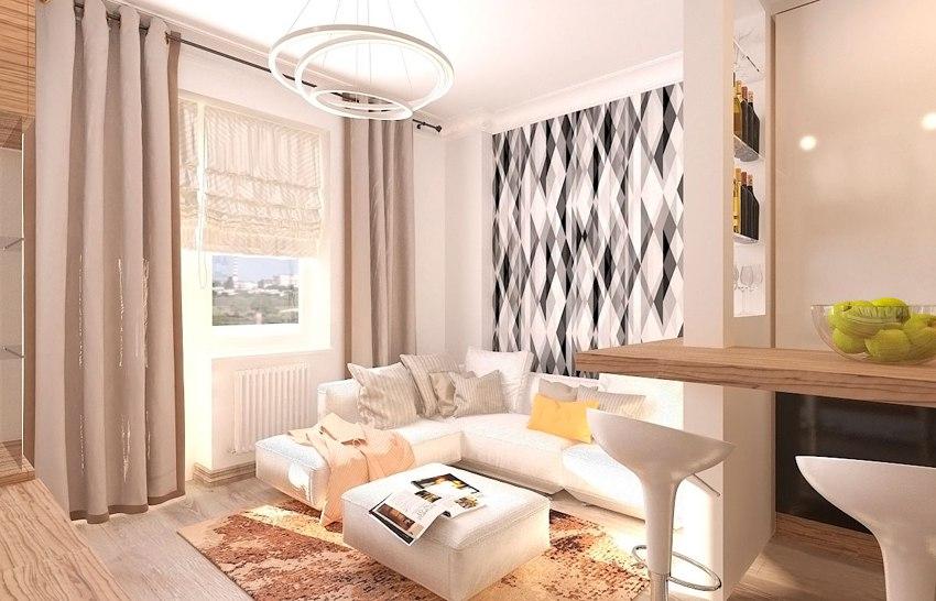 Проект квартиры 26 м от застройщика АСО Комстрой, Ростов-на-Дону.