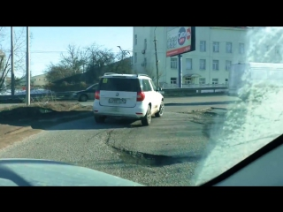 Ну что там, с дорогами в Крыму Ремонт дорог Крыма. Симферополь 2017. Февраль