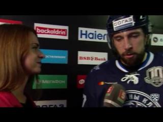 Интервью Александра Китарова после 2 периода матча с Барысом