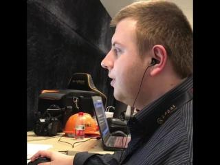 Олег за созданием субтитров.