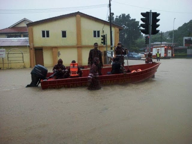 Penang hit with floods
