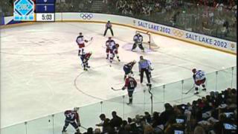 Хоккей ОИ-2002 Россия - США полуфинал нтв