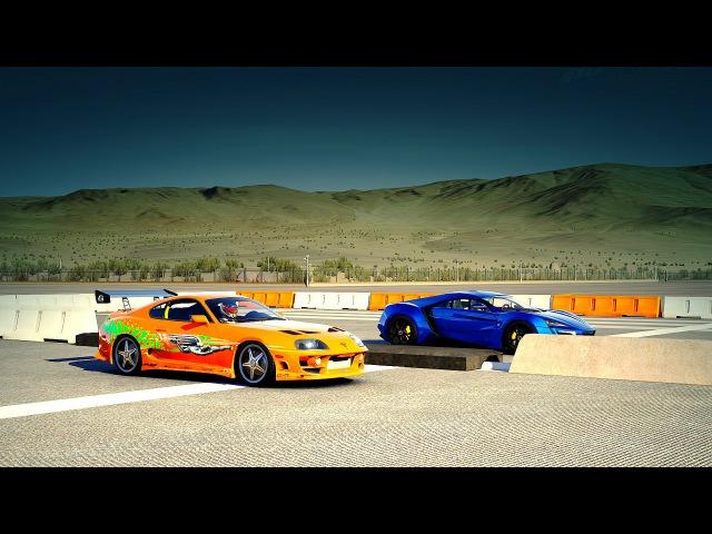 Forza 6: Lykan HYPERSPORT vs. FF Paul Walker's Toyota Supra RZ | Drag Race