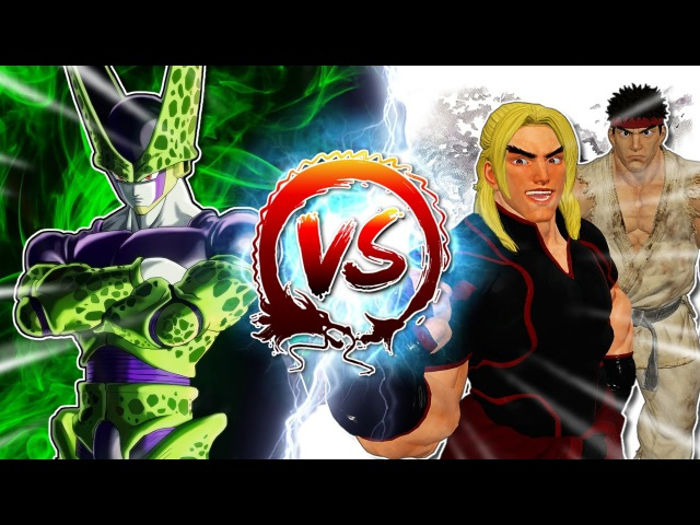 Dragon Ball Z Abridged: Cell Vs Ryu & Ken CellGames | TeamFourStar
