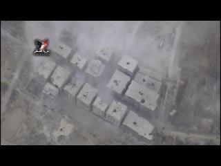 Впечатляющие кадры: Дрон снял точечные удары авиации по боевикам в Алеппо