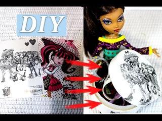 DIY Как перенести изображение с бумаги на любую поверхность. Декупаж в стиле кукл ...