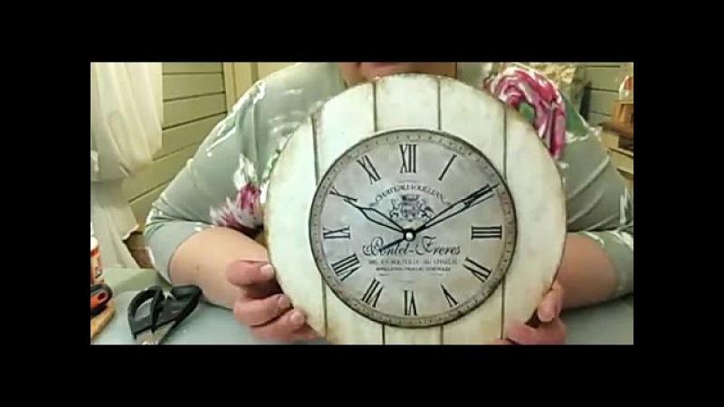 Декупаж ✿ Часы в стиле кантри ✿ Мастер класс Любови Митрофановой смотреть онлайн без регистрации