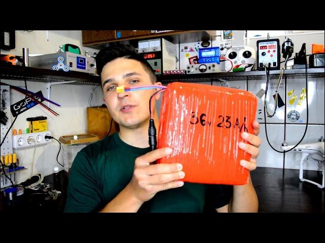 ПРОСТАЯ И МОЩНАЯ Li Ion БАТАРЕЯ СВОИМИ РУКАМИ за 50$ как сделать аккумулятор 18650 электровелосипеда